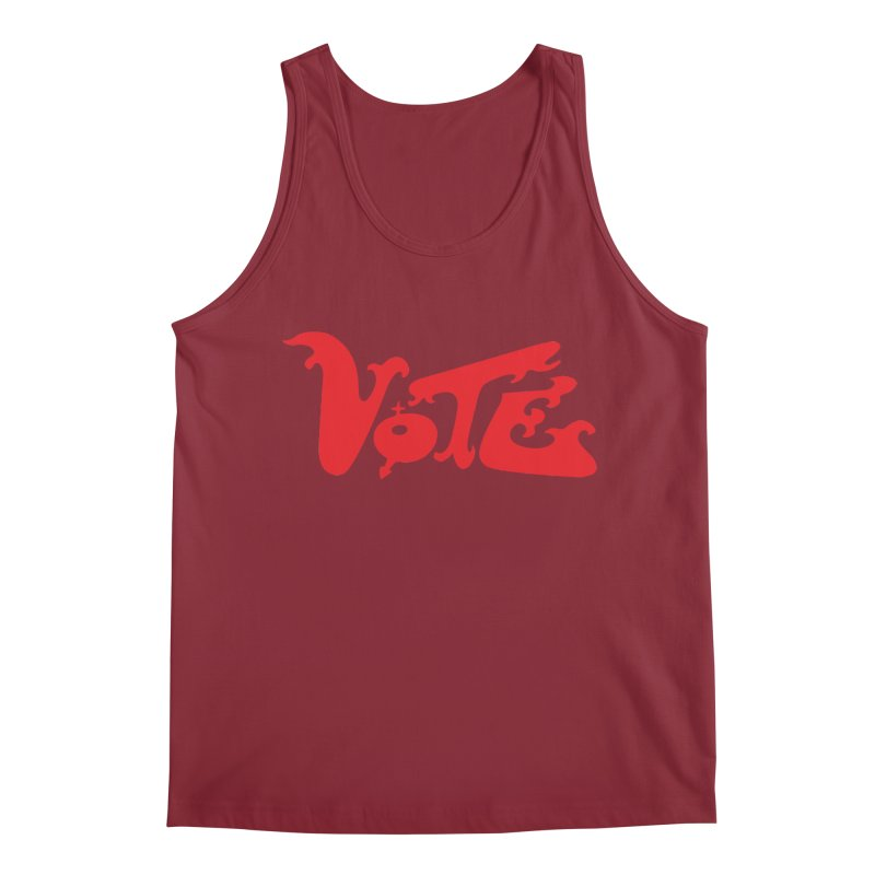 Vote Groovy (RED) Men's Regular Tank by RobBoyleArt's Artist Shop