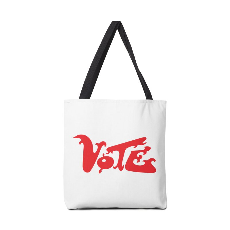Vote Groovy (RED) Accessories Tote Bag Bag by RobBoyleArt's Artist Shop