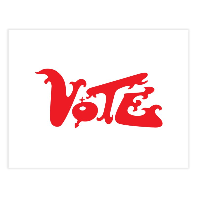 Vote Groovy (RED) Home Fine Art Print by RobBoyleArt's Artist Shop
