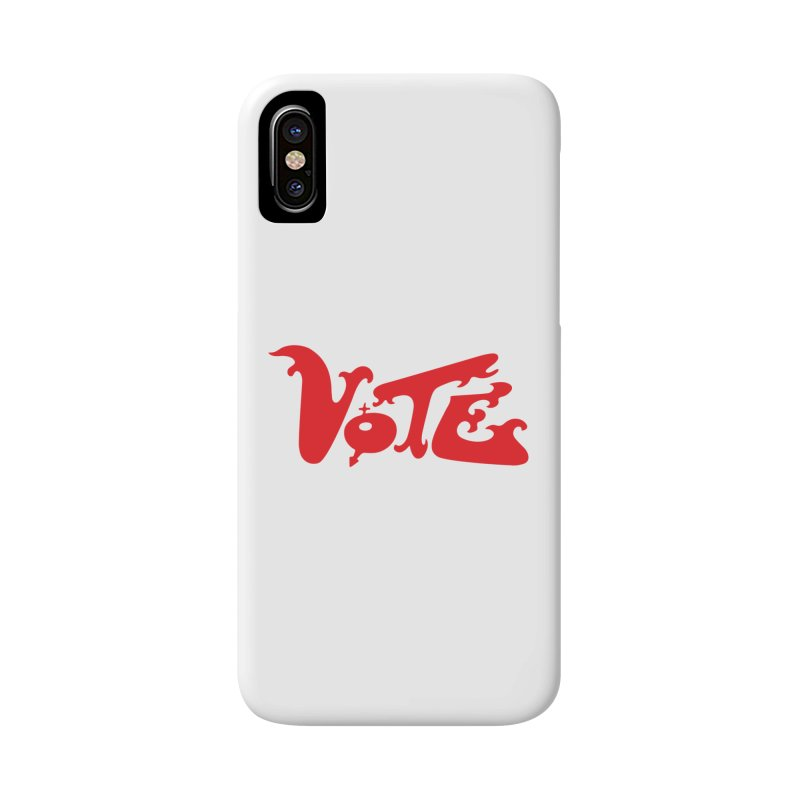 Vote Groovy (RED) Accessories Phone Case by RobBoyleArt's Artist Shop