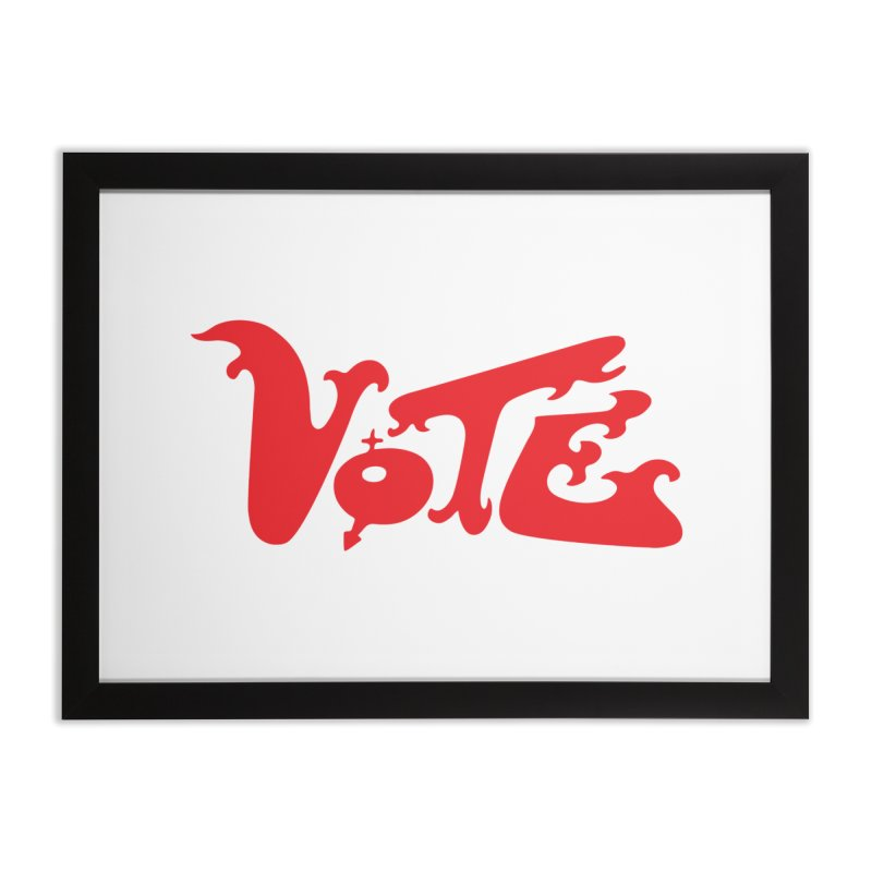 Vote Groovy (RED) Home Framed Fine Art Print by RobBoyleArt's Artist Shop
