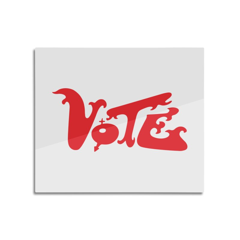 Vote Groovy (RED) Home Mounted Acrylic Print by RobBoyleArt's Artist Shop