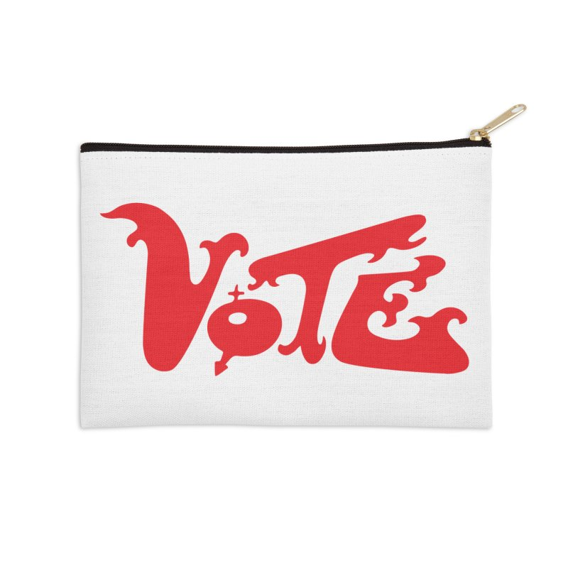 Vote Groovy (RED) Accessories Zip Pouch by RobBoyleArt's Artist Shop
