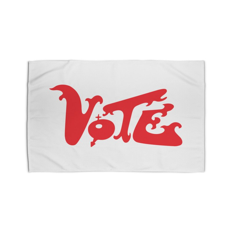 Vote Groovy (RED) Home Rug by RobBoyleArt's Artist Shop
