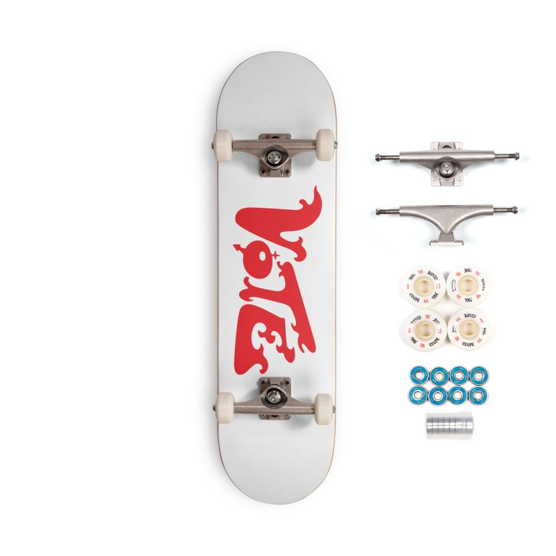 Vote Groovy (RED) Accessories Complete - Premium Skateboard by RobBoyleArt's Artist Shop