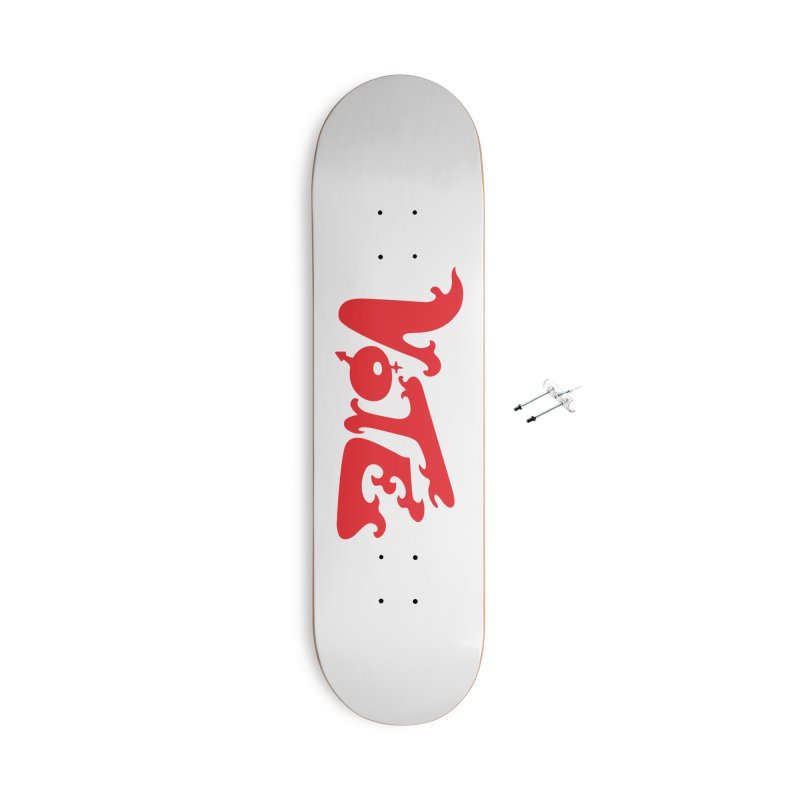 Vote Groovy (RED) Accessories With Hanging Hardware Skateboard by RobBoyleArt's Artist Shop