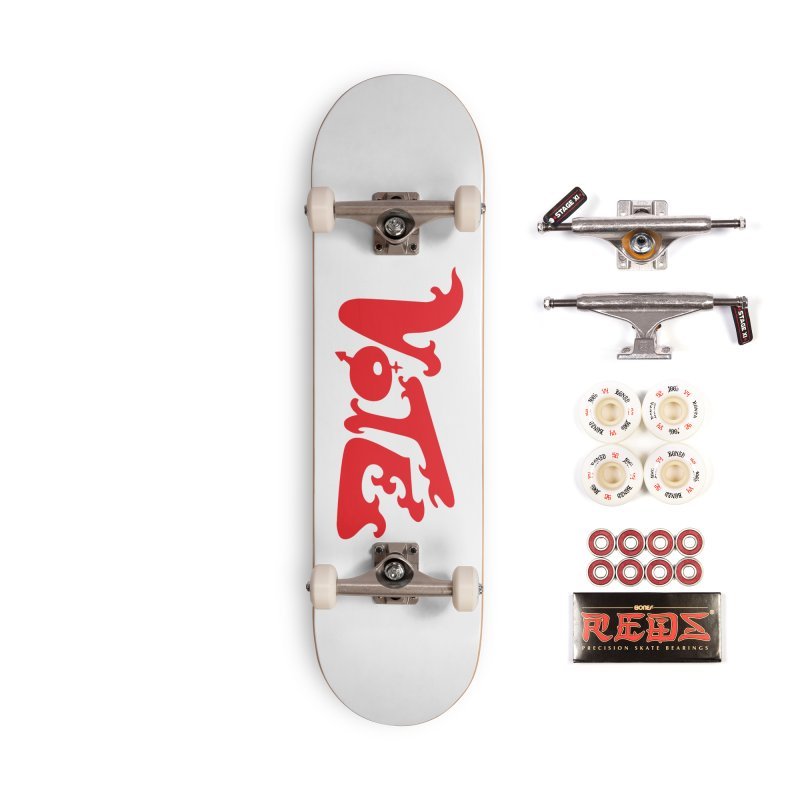 Vote Groovy (RED) Accessories Skateboard by RobBoyleArt's Artist Shop
