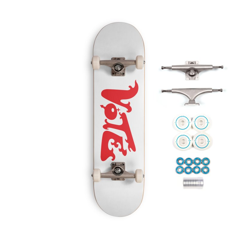 Vote Groovy (RED) Accessories Complete - Basic Skateboard by RobBoyleArt's Artist Shop