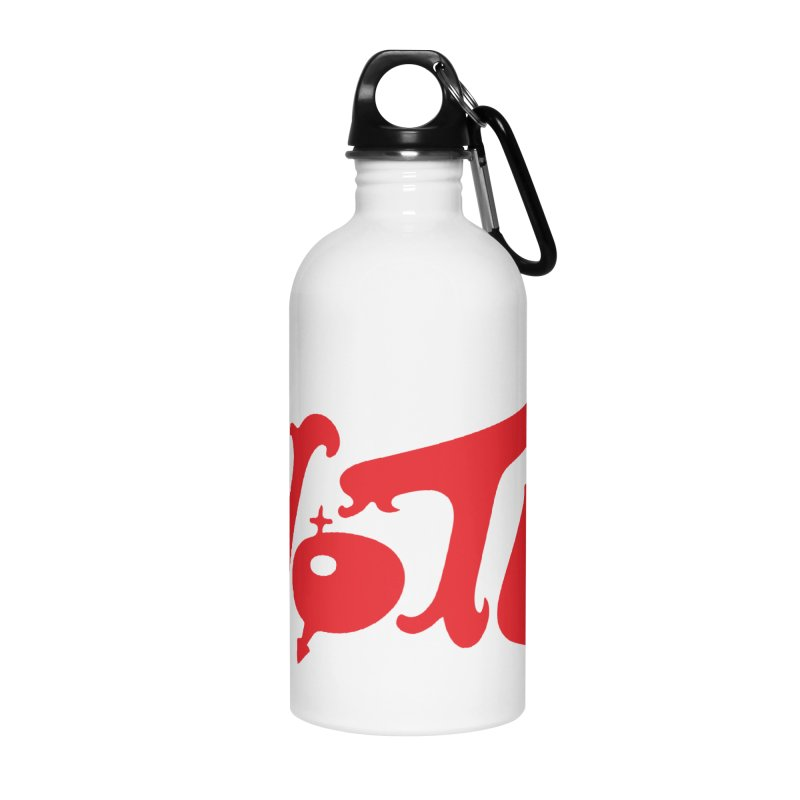 Vote Groovy (RED) Accessories Water Bottle by RobBoyleArt's Artist Shop