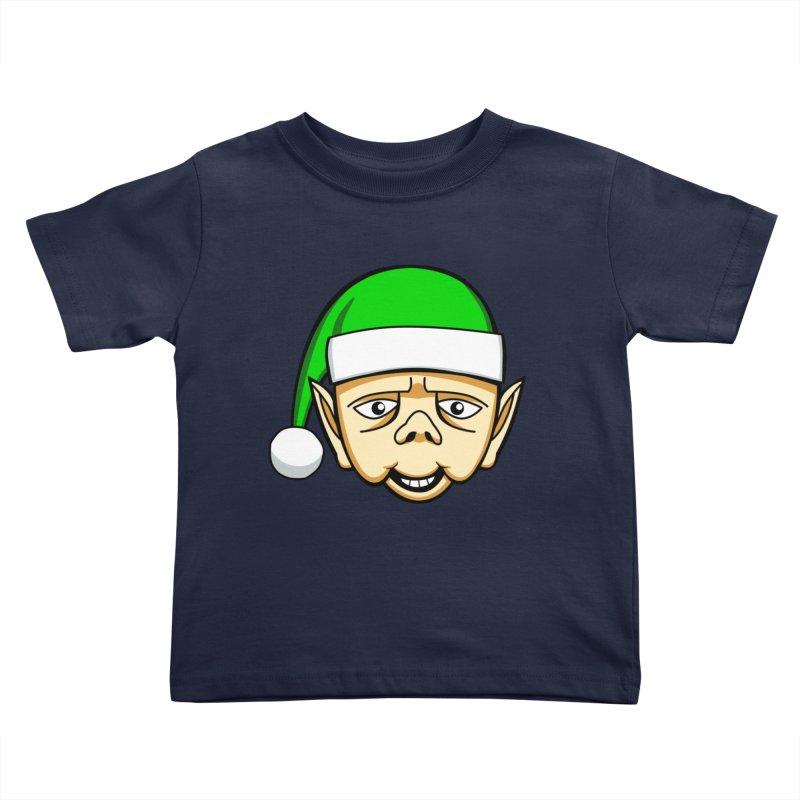 The Friendly Christmas Elf Kids Toddler T-Shirt by Robotchka Apparel