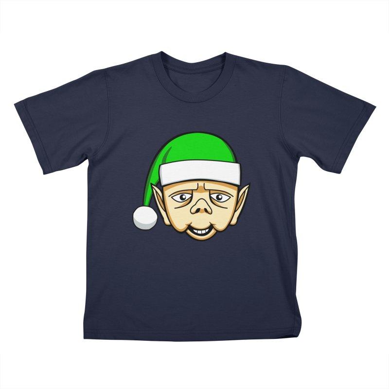 The Friendly Christmas Elf Kids T-Shirt by Robotchka Apparel