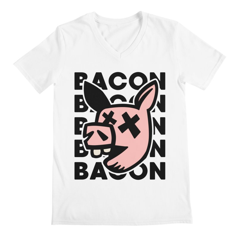 Bacon Men's V-Neck by Robotchka Apparel