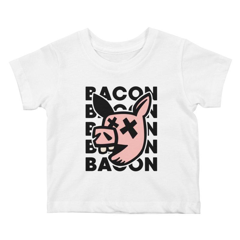 Bacon Kids Baby T-Shirt by Robotchka Apparel