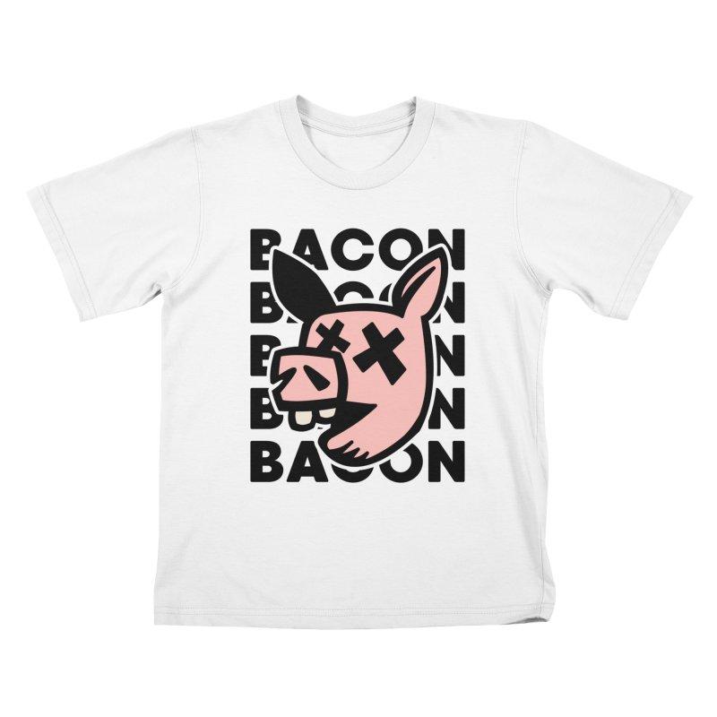 Bacon Kids T-Shirt by Robotchka Apparel
