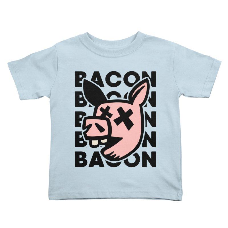 Bacon Kids Toddler T-Shirt by Robotchka Apparel