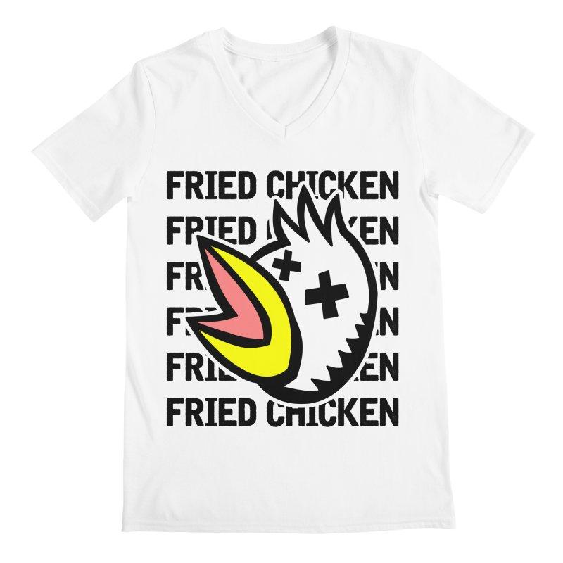 Fried Chicken Men's V-Neck by Robotchka Apparel