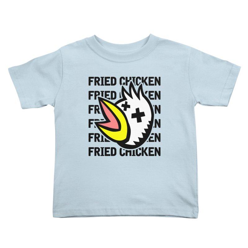 Fried Chicken Kids Toddler T-Shirt by Robotchka Apparel