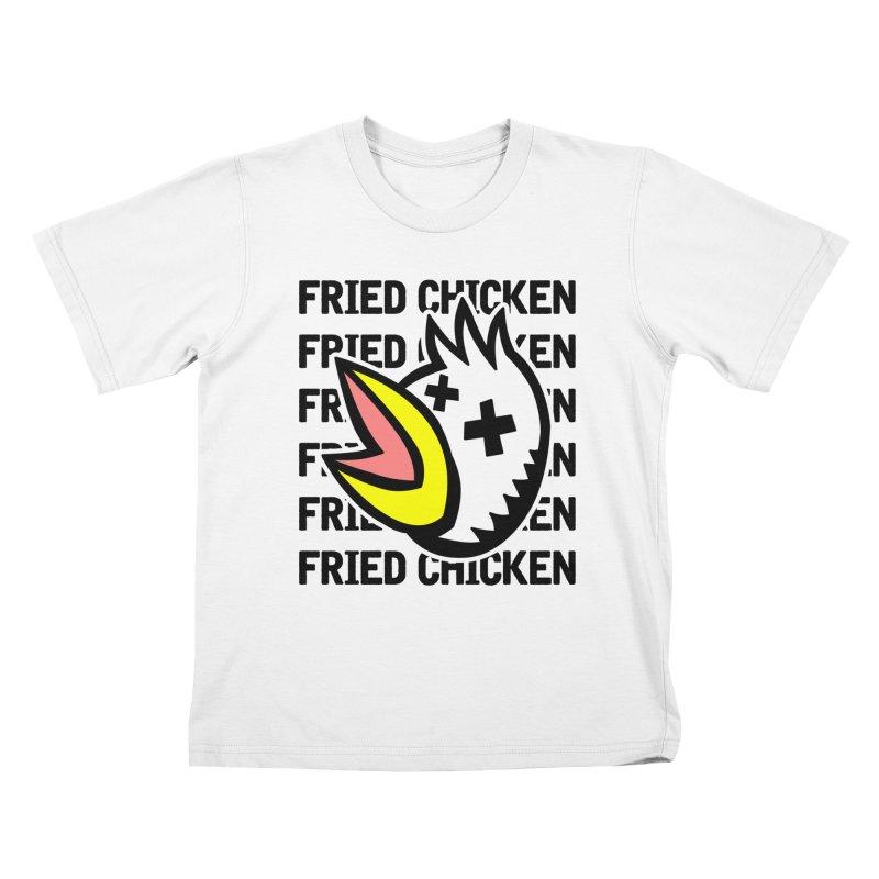 Fried Chicken Kids T-Shirt by Robotchka Apparel