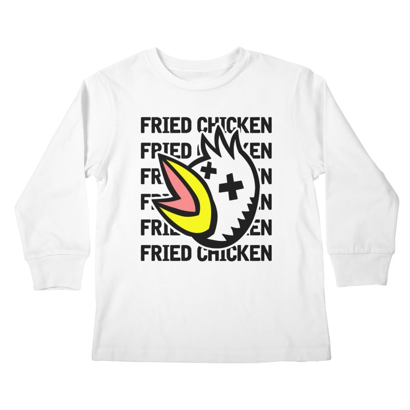Fried Chicken Kids Longsleeve T-Shirt by Robotchka Apparel
