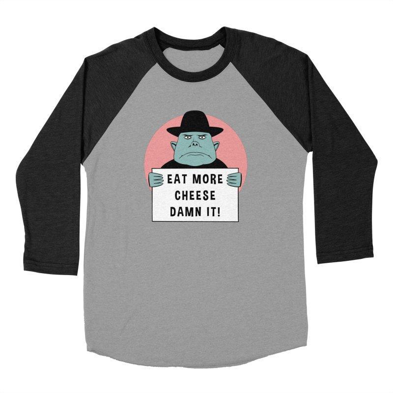 Eat More Cheese Men's Longsleeve T-Shirt by Robotchka Apparel