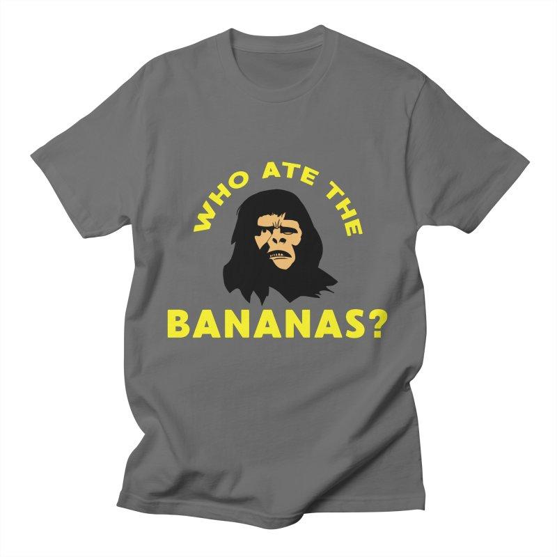 Who Ate The Bananas? Men's T-Shirt by Robotchka Apparel