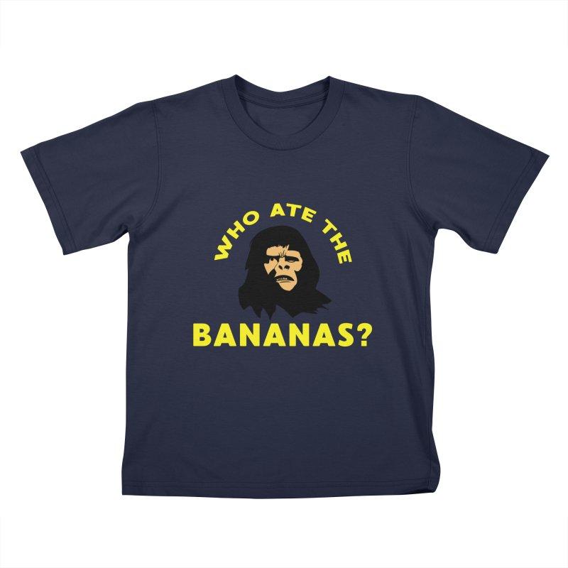 Who Ate The Bananas? Kids T-Shirt by Robotchka Apparel