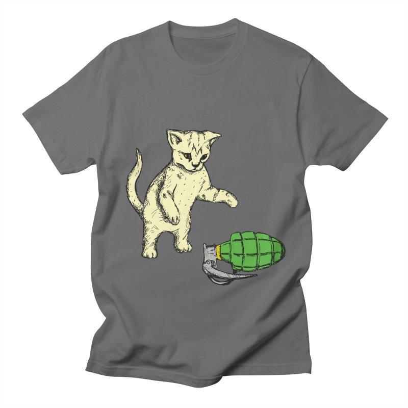 Curiosity Killed The Kitty Men's T-Shirt by Robotchka Apparel