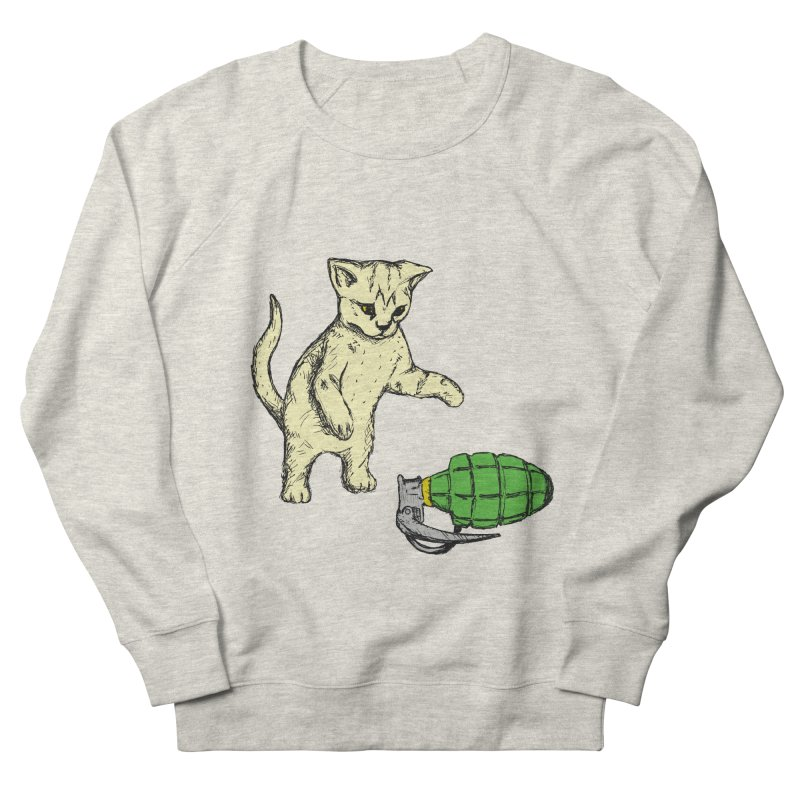 Curiosity Killed The Kitty Men's Sweatshirt by Robotchka Apparel