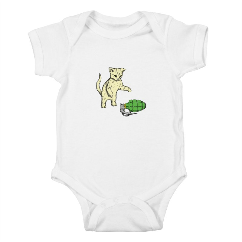 Curiosity Killed The Kitty Kids Baby Bodysuit by Robotchka Apparel