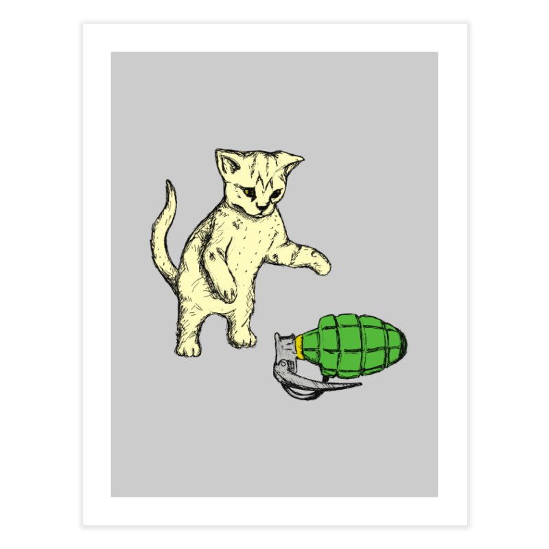 Curiosity Killed The Kitty Home Fine Art Print by Robotchka Apparel