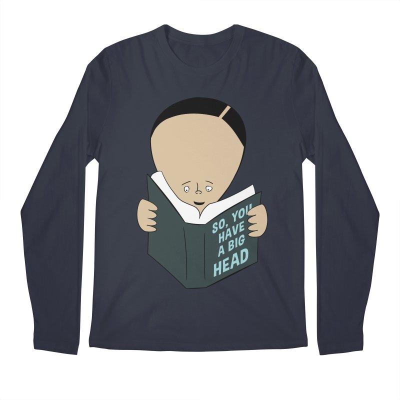 Big Head Men's Longsleeve T-Shirt by Robotchka Apparel