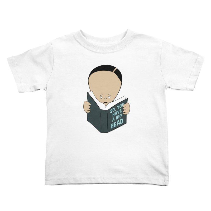 Big Head Kids Toddler T-Shirt by Robotchka Apparel
