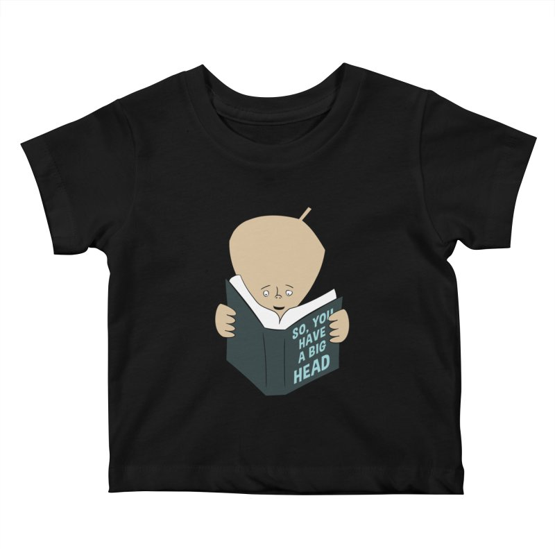 Big Head Kids Baby T-Shirt by Robotchka Apparel