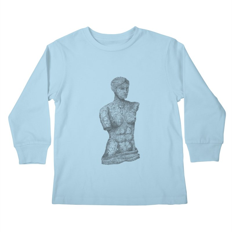 Amalgamation Kids Longsleeve T-Shirt by Robotjunkyard