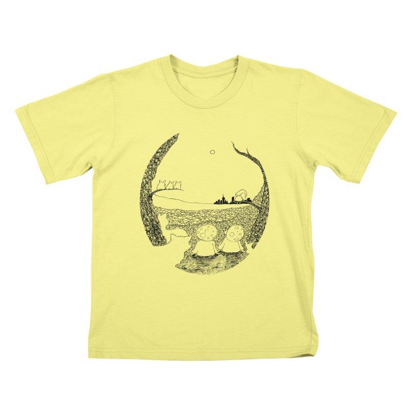 Children of the Forest Kids T-shirt by Robotjunkyard