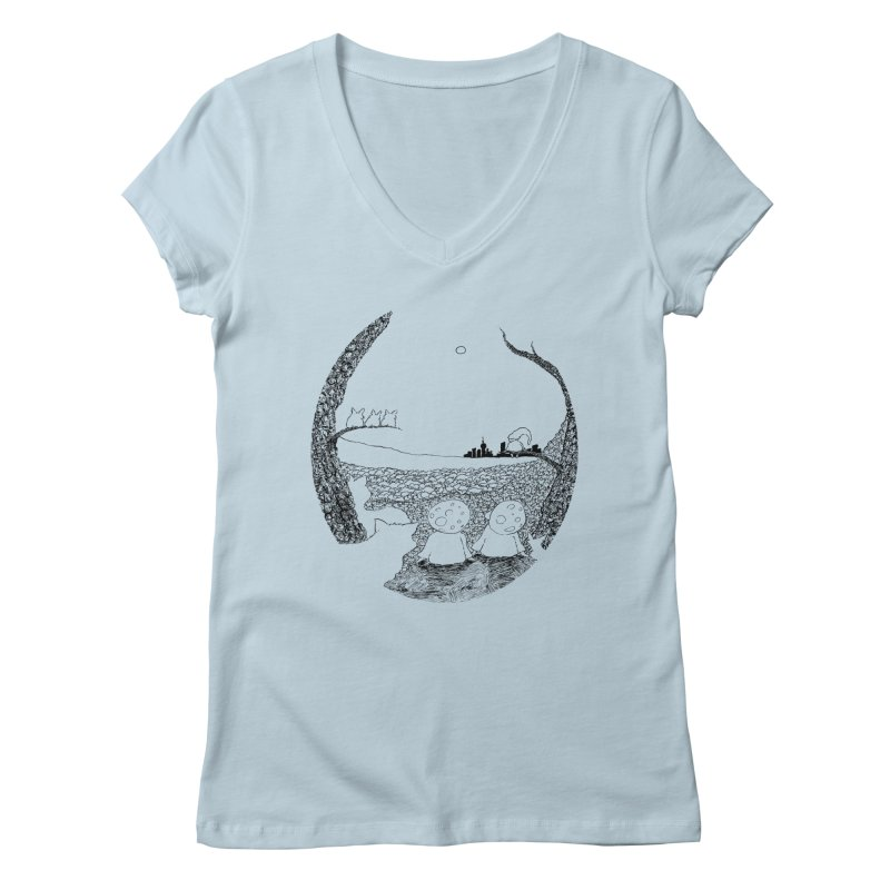Children of the Forest Women's V-Neck by Robotjunkyard
