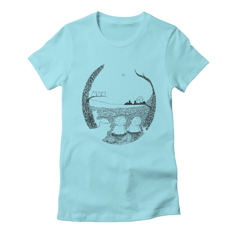 Children of the Forest Women's Fitted T-Shirt by Robotjunkyard