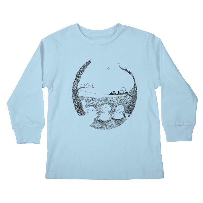 Children of the Forest Kids Longsleeve T-Shirt by Robotjunkyard