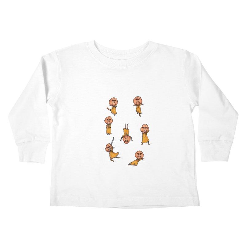 Shaolin Training Kids Toddler Longsleeve T-Shirt by Robotjunkyard