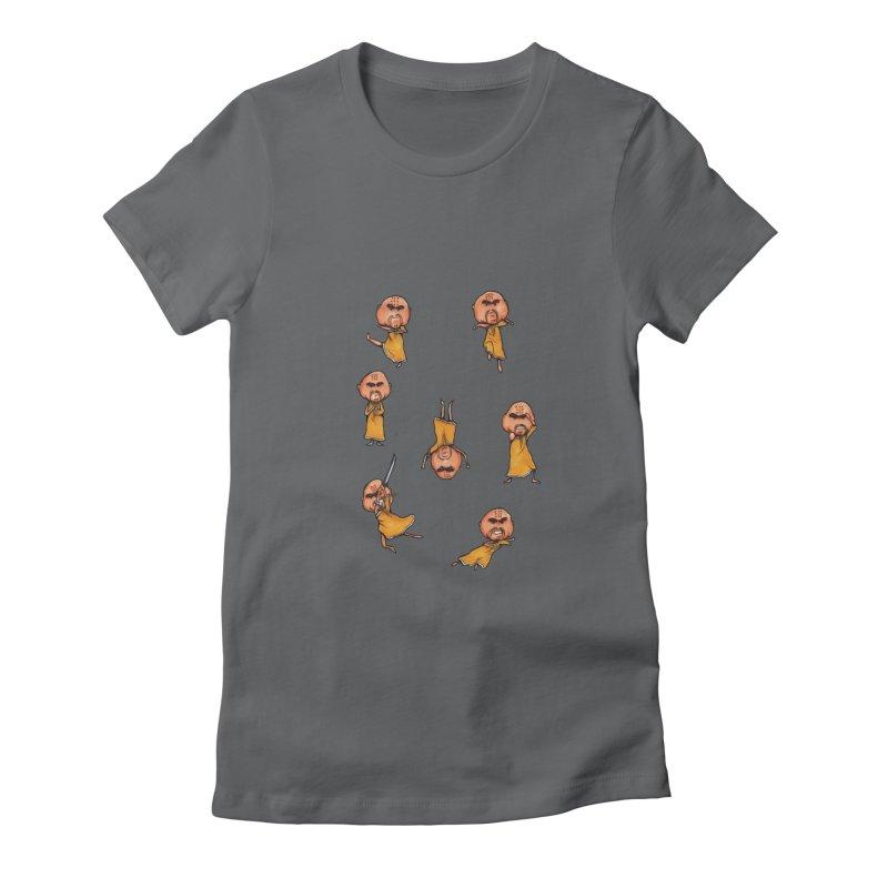 Shaolin Training Women's Fitted T-Shirt by Robotjunkyard