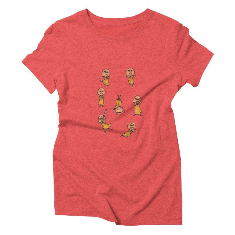 Shaolin Training Women's Triblend T-shirt by Robotjunkyard