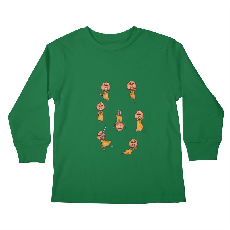Shaolin Training Kids Longsleeve T-Shirt by Robotjunkyard
