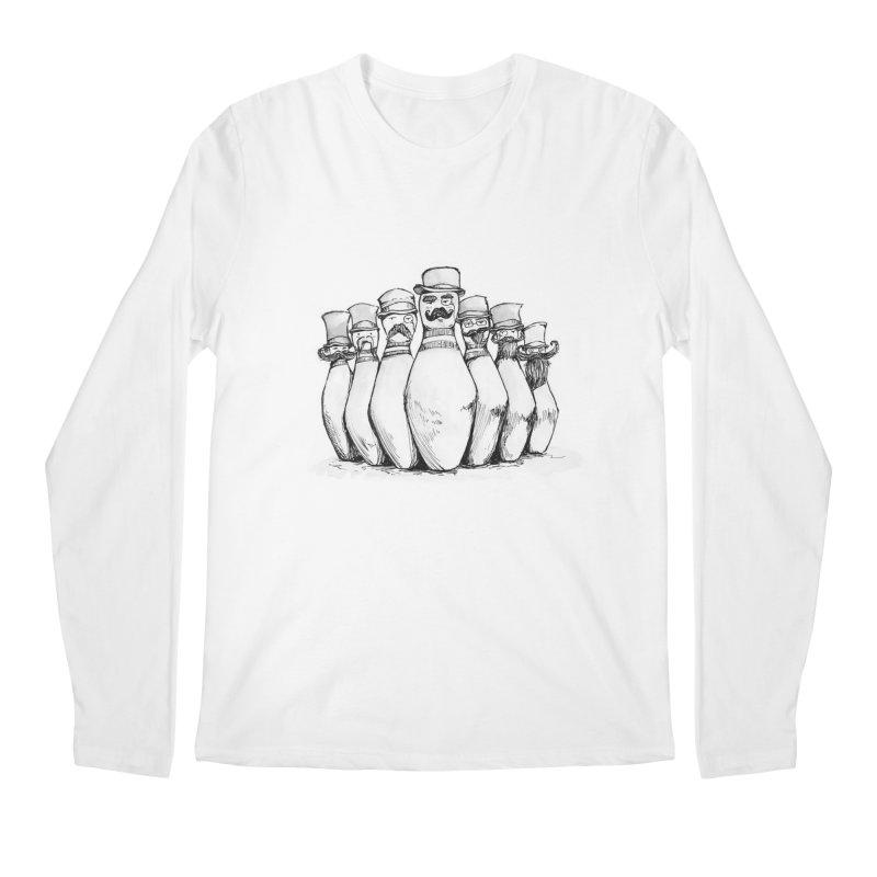 League of Incredibly Posh Bowling Pins Men's Longsleeve T-Shirt by Robotjunkyard