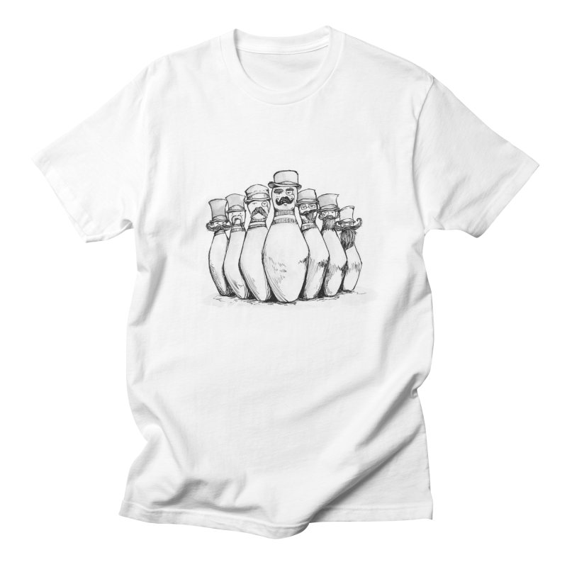 League of Incredibly Posh Bowling Pins Men's T-shirt by Robotjunkyard