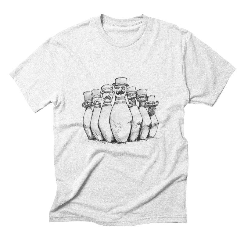League of Incredibly Posh Bowling Pins Men's Triblend T-shirt by Robotjunkyard
