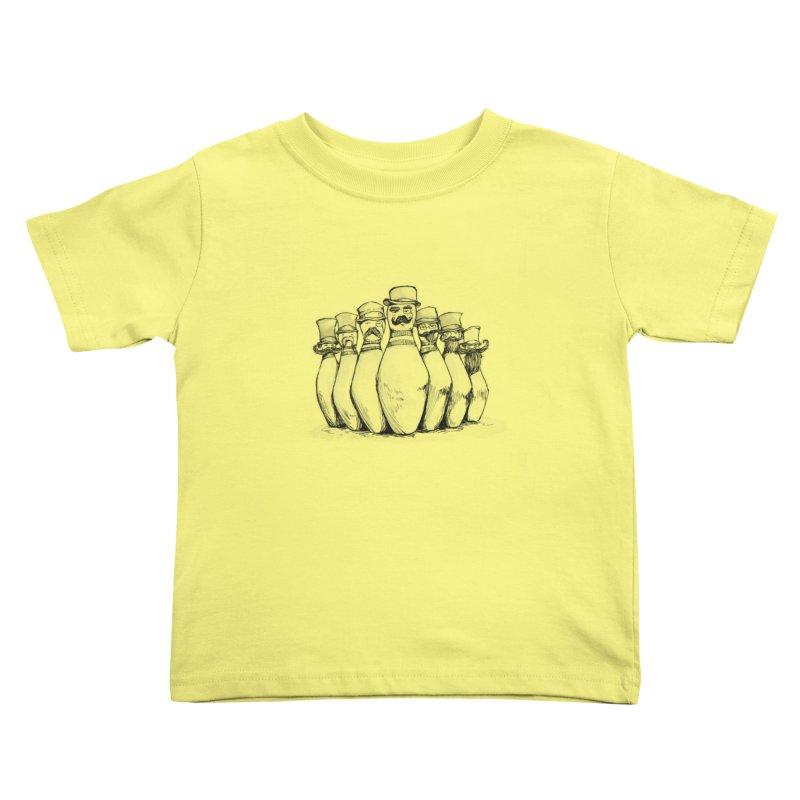League of Incredibly Posh Bowling Pins Kids Toddler T-Shirt by Robotjunkyard