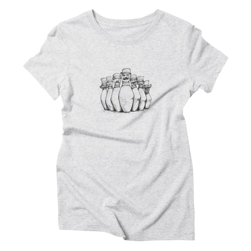 League of Incredibly Posh Bowling Pins Women's Triblend T-shirt by Robotjunkyard