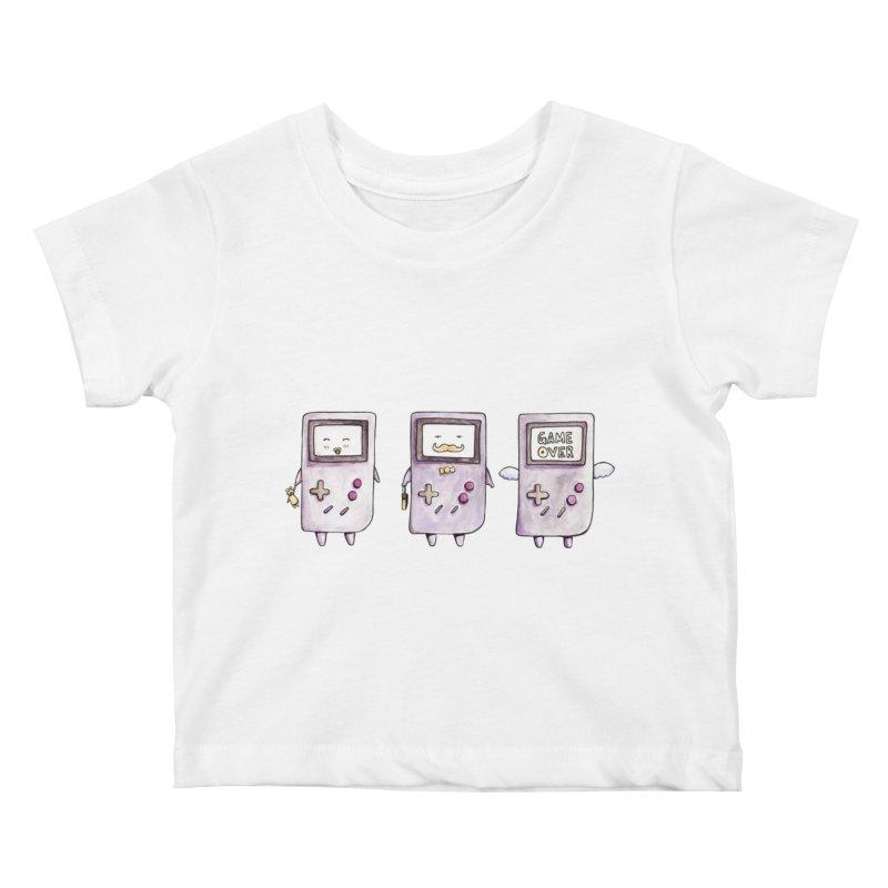 Life of a Game Boy Kids Baby T-Shirt by Robotjunkyard