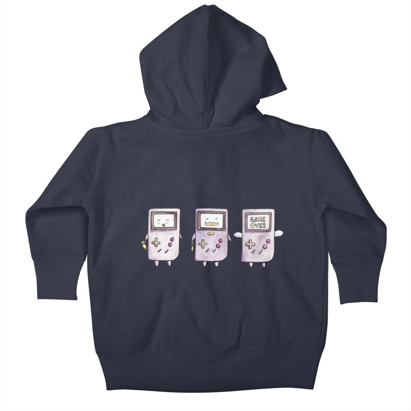 Life of a Game Boy Kids Baby Zip-Up Hoody by Robotjunkyard