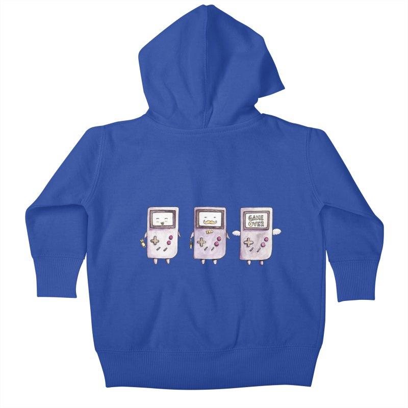 Life of a Game Boy Kids Baby Zip-Up Hoody by Robotjunkyard